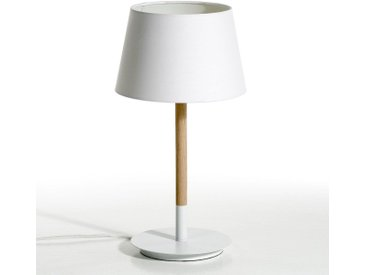 Lampe à poser, Stefan AM.PM Chêne/Blanc