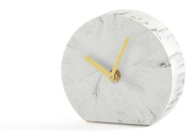 Horloge à poser en polyrésine BAKALA LA REDOUTE INTERIEURS Marbre Blanc