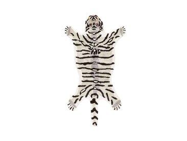 Tapis enfant tigre blanc Ramazan AM.PM Blanc Gris Noir