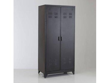 Armoire 2 portes en métal, Hiba LA REDOUTE INTERIEURS Noir