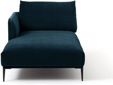 Méridienne velours, Oscar design E.Gallina AM.PM Bleu Paon