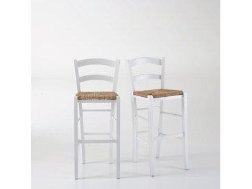 Lot de 2 chaises de bar paysannes, Perrine LA REDOUTE INTERIEURS Blanc