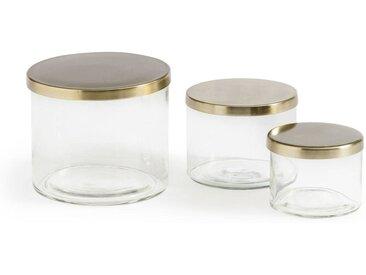 Lot de 3 boites en verre, Paco LA REDOUTE INTERIEURS Transparent