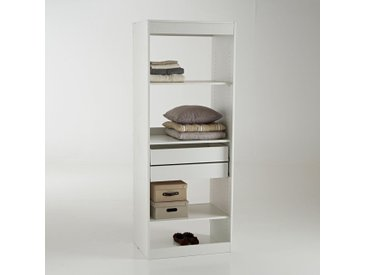 Module dressing, 3 tablettes et 2 tiroirs Build LA REDOUTE INTERIEURS Blanc