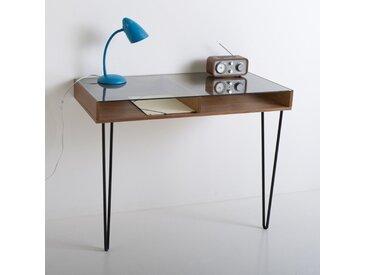 Bureau console vintage, Watford LA REDOUTE INTERIEURS Noyer / Noir