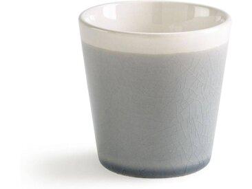 Lot 4 tasses à café craquelées, GOGAIN LA REDOUTE INTERIEURS Bleu Grisé