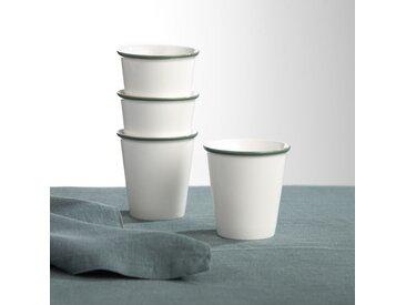 Lot 4 tasses en céramique, IRUN LA REDOUTE INTERIEURS Sauge