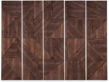 Papier peint motif panoramique 3,5 m Marquetterie AM.PM Noyer