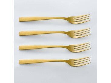 Lot 4 fourchettes dorées, AUBERIE LA REDOUTE INTERIEURS Doré