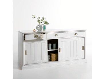 Buffet 3 portes, 3 tiroirs pin massif, Inqaluit LA REDOUTE INTERIEURS Blanc