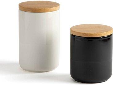 Lot de 2 pots de conservation, Terbla LA REDOUTE INTERIEURS Noir + Blanc