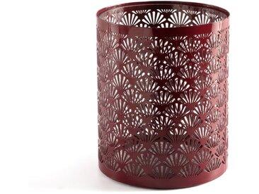 Photophore métal Fani LA REDOUTE INTERIEURS Rouge Bordeaux
