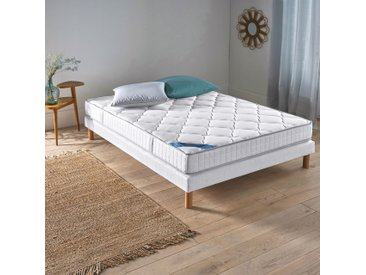 Ensemble matelas mousse HR + sommierREVERIEBlanc