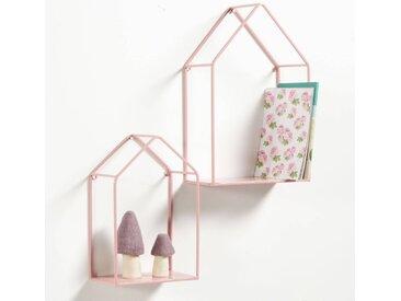 Lot de 2 étagères murales, maison, Sonale LA REDOUTE INTERIEURS Rose