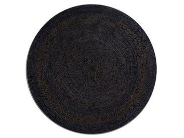 Tapis rond en jute Hempy, Ø160 cm AM.PM Noir