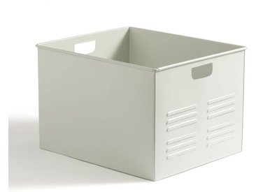 Caisse en métal, HIBA LA REDOUTE INTERIEURS Blanc Cassé