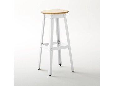 Tabouret style industriel, haut. 75 cm, Hiba LA REDOUTE INTERIEURS Blanc