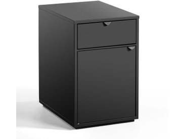 Caisson de bureau 1 tiroir + 1 porte, Angus AM.PM Carbone