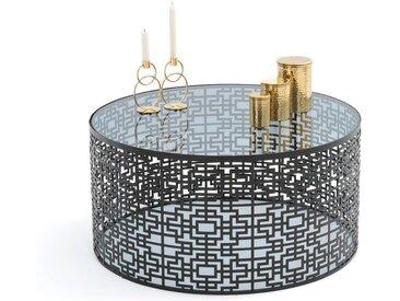 Table basse en métal ajouré, GUEISHI LA REDOUTE INTERIEURS Noir