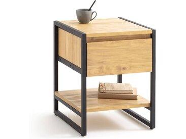 Chevet 1 tiroir, HIBA LA REDOUTE INTERIEURS Noir/Bois