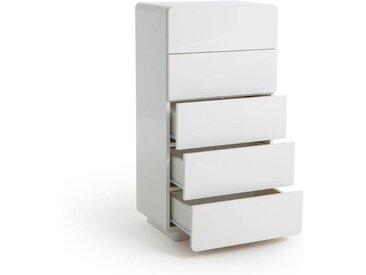Chiffonnier 5 tiroirs NEWARK LA REDOUTE INTERIEURS Blanc