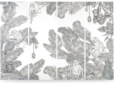 Papier peint panoramique 3,5m, Iquitos AM.PM Noir/Blanc
