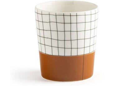 Lot de 4 tasses à carreaux, Acao LA REDOUTE INTERIEURS Blanc/Noir