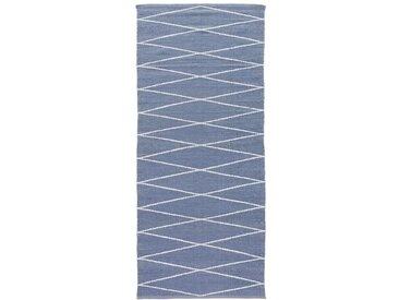 Tapis de couloir outdoor Misako motif losanges LA REDOUTE INTERIEURS Blanc/Bleu Grisé