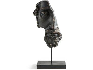 Statuette Visage en résine, Waraji AM.PM Noir