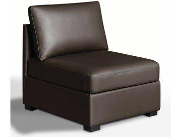 Chauffeuse, confort excellence, cuir, Robin LA REDOUTE INTERIEURS Marron Chocolat