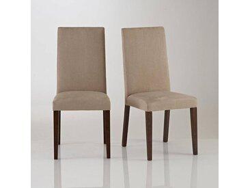 Lot de 2 chaises microfibre, Hartford LA REDOUTE INTERIEURS Taupe Clair