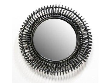 Miroir rotin Tarsile, rond Ø60 cm AM.PM Noir Foncé