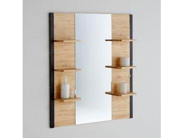 Miroir de salle de bains, pin massif & métal, Hiba LA REDOUTE INTERIEURS Naturel