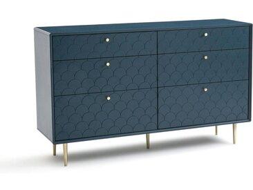 Commode 6 tiroirs, Luxore LA REDOUTE INTERIEURS Bleu De Prusse