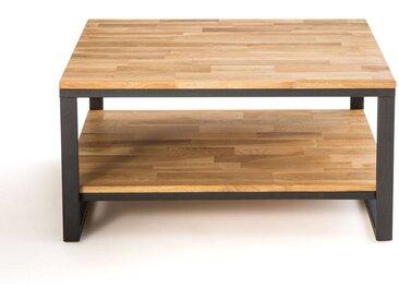 Table basse carrée chêne et acier, Hiba LA REDOUTE INTERIEURS Naturel