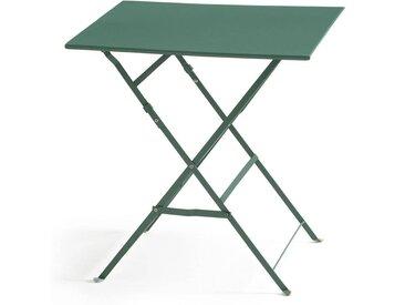 Table pliante carrée, métal Ozevan LA REDOUTE INTERIEURS Vert Eucalyptus