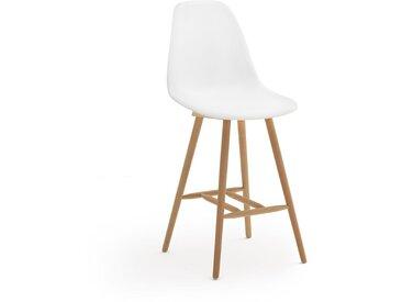 Chaise de bar mi- hauteur, JIMI LA REDOUTE INTERIEURS Blanc