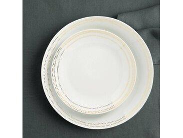 Lot 4 assiettes à dessert Essentielle LA REDOUTE INTERIEURS Blanc - Doré