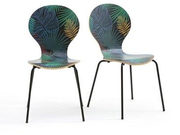 Lot de 2 chaises imprimées végétal, Ronda LA REDOUTE INTERIEURS Imprimé