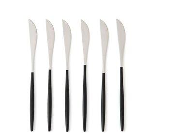 Lot de 6 couteaux inox Barbule AM.PM Inox/Noir