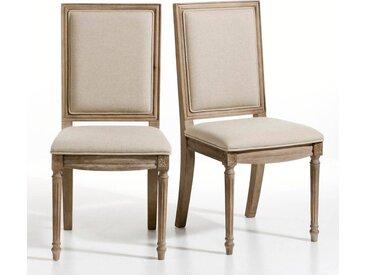 Lot de 2 chaises style Louis XVI , Nottingham LA REDOUTE INTERIEURS Cérusé