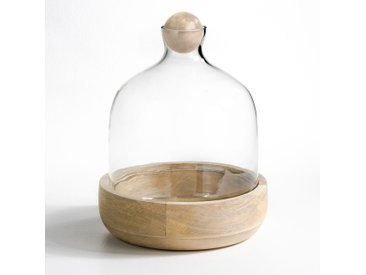 Terrarium rozo verre et manguier AM.PM Transparent/Bois Naturel