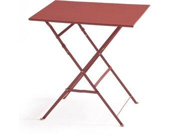 Table pliante carrée, métal Ozevan LA REDOUTE INTERIEURS Terracotta