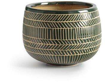 Cache-pot céramique, haut. 16 cm SENSHAH LA REDOUTE INTERIEURS Vert
