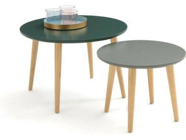 Lot de 2 tables basses gigognes, Jimi LA REDOUTE INTERIEURS Vert