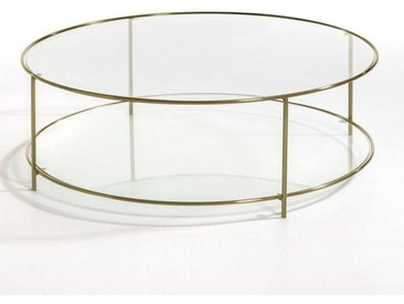 Table basse ronde verre trempé, Sybil AM.PM Transparent