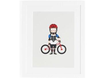 Affiche encadrée biker, Coriamai AM.PM Multicolore