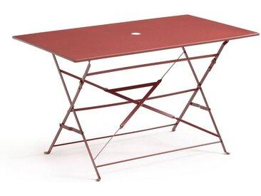 Table pliante rectangulaire, métal OZEVAN LA REDOUTE INTERIEURS Terracotta