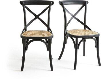 Lot de 2 chaises bois et cannage Cedak LA REDOUTE INTERIEURS Noir