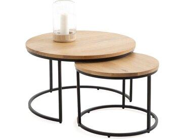 Lot de 2 tables basses gigognes en chêne, Vova LA REDOUTE INTERIEURS Chêne